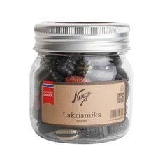 Drops: Lakrismiks på Norgesglass - Hyttefeber.no Mason Jars, Protein, Drop, Products, Mason Jar, Gadget, Glass Jars, Jars