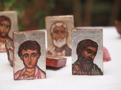 Apostles Saint Matthew and St.Thomas Miniature holy by angelicon, €16.00
