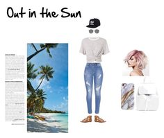 """Out in the Sun"" by katattackfashion ❤ liked on Polyvore featuring T By Alexander Wang, Ray-Ban, Avenue, adidas and Mansur Gavriel"
