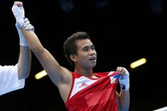 Philippine Boxer Mark Barriga after First Win! #London2012Olympics [ Article: http://www.abs-cbnnews.com/sports/07/31/12/little-pacquiao-blows-out-italian-foe ]