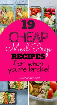 Start saving money on your grocery bill with these cheap meal prep recipes. Here are 19 easy, budget-friendly recipes that will have you saving money in no time. #mealprep #foodprep #frugal #frugalmeals #frugalfamily #budgeting #healthy #frugalliving #weightloss #frugaldinners #frugalbreakfast #frugallunch #frugalrecipes