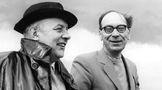 """Too many people in the modern world view poetry as a luxury, not a necessity like petrol. But to me it's the oil of life. "" Sir John Betjeman with Philip Larkin Philip Larkin, British Poets, English Poets, Writers And Poets, World View, Good People, Amazing People, Black And White Pictures, Music"