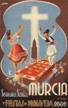 Carteles Antiguos de Semana Santa de Murcia
