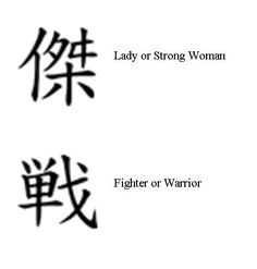 Warrior Symbol Tattoos for Women