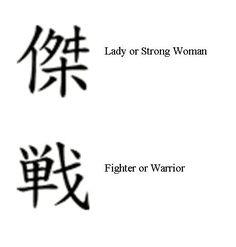 Warrior Symbol Tattoos for Women
