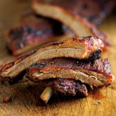 Memphis-Style Ribs. Steven Raichlin BBQ Bible. WOW! I could figure out how to make this in my oven   :)))))