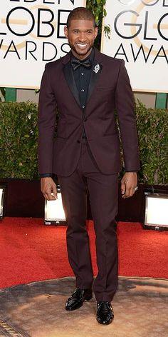 Usher 2014 Golden Globes #celebrities #celebrityfashion #redcarpet