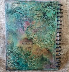 Such a Pretty Mess: VIDEO TUTORIAL: Mixed Media Art Journal Cover Using My NEW TCW Stencils and Dusty Attic Chipboard!