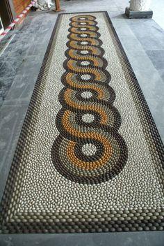 Pebble mosaic (porcelain) Mehmet isikli. 2008