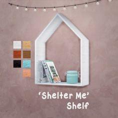 My Sims 4 Blog: Shelter Me Shelf by Reivan13Sims
