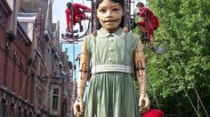 giant little girl puppet in liverpool
