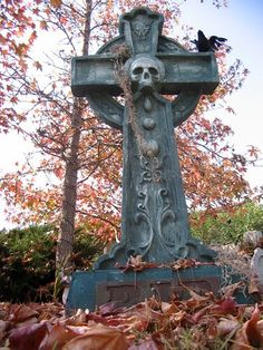 Celtic Cross, Skull, Raven - Beware