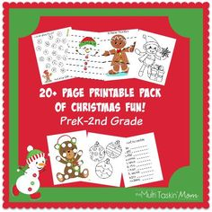 Sometimes you just need a break from the normal homeschool routine. This fun Christmas Printable Pack includes over 20 pages of activities with color-by-number, word scramble, crossword puzzle, a maze and MUCH more! :: www.thriftyhomeschoolers.com