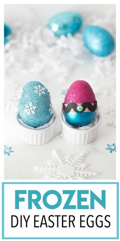 This Disney Princess Inspired DIY Easter Egg is a fun Disney princess craft centered around our favorite Disney Frozen characters- Anna and Elsa! Makes a great Easter basket gift or Easter craft idea! Disney Princess Crafts, Disney Diy, Disney Frozen, Easter Gift Baskets, Basket Gift, Easter Crafts For Kids, Diy For Kids, Disney Crafts For Adults, Easter Ideas