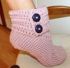 Amigurumis e outras artes em crochê: Botas em crochê