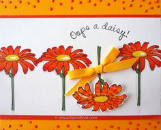 "Oops a Daisy - Oopsie, Oopsie If you're running late with birthday greetings, no worries -- the birthday girl will forgive you immediately upon getting this cheery ""Oops a daisy!"" card! You could also use this greeting to cheer someone who has suffered a fall, injury, or other ""oops"" of some sort."