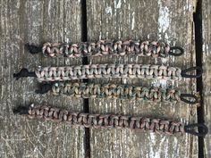 Camo Paracord (Camo Paracord Kit found on Amazon http://wildwolfpack.net/product/paracord-bracelet-kit-20-ft-of-550-5-colors-100-ft-total/) - cobra stitch on black paracord with no buckle  #ParacordBracelet