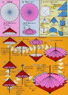 折纸雨伞的图纸教程帮助你更好的理解折纸雨伞的制作
