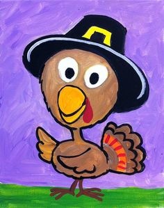Thanksgiving Turkey - canvas painting