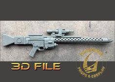 3D Print File - Star Wars Cosplay Kit - DLT-20A Blaster Rifle - Lifesize Us Armor, Mandalorian, For Stars, Tmnt, Filing, Civilization, Weapon, Transformers, 3d Printing