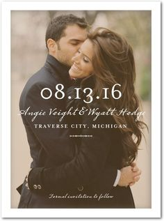 Clear Beauty - Signature White Photo Save the Date Cards - Float Paperie - White : Front