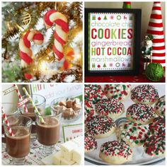Cookie Exchange and Hot Cocoa Bar with  Free Printables! See more party ideas at CatchMyParty.com. #cookieexchange #hotcocoabar