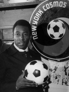 Pele is seen after his final Cosmos game at Giants Stadium, in 1975.