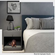 Closet Bedroom, Master Bedroom, Bedroom Decor, Diy Dog Bed, Diy Bed, Black Rooms, Single Bedroom, Bed Table, Couple Bedroom
