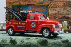 1:38 KINSMART 1953 CHEVROLET 3100 WRECKER TOW TRUCK Red Perfect for Diorama use #Kinsmart #Chevrolet