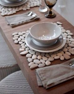 Stone tile as placemats