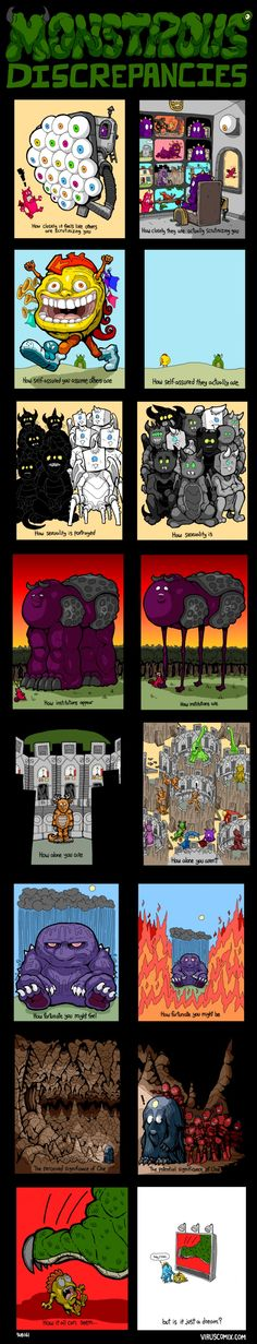 Somethings are better explained by images. This is a creative way of presenting humans as monsters