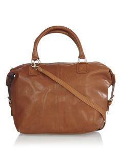 Cowboysbag Handtas van generfd leer