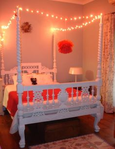 how the fairy lights twinkle! Lola's room