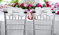 wedding chair calligraphy