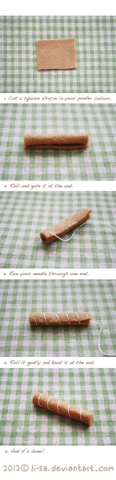 Felt cake tutorial- swiss roll by =li-sa on deviantART