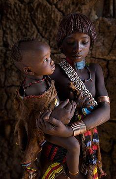 hamar children, omo valley, ethiopia | african culture