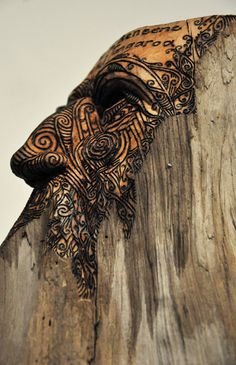 "Contemporary Maori Art, ""Totara Kaitiaki Tangaroa"" By Conor Jeory, New Zealand Maori Symbols, Maori Patterns, Maori People, Polynesian Art, Maori Designs, New Zealand Art, Nz Art, Maori Art, Indigenous Art"