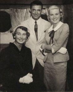 """graciemonaco: """" hollyjacks: """" (2) """" Betsy Drake, Cary Grant & Grace Kelly """""""