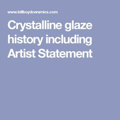 An introduction to management science quantitative approaches to technical description of crystalline glaze history and process including artist statement fandeluxe Gallery