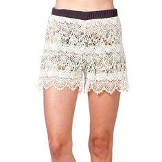 Miss Me Women's Lace Shorts
