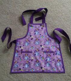694c55dc43a Girls Apron Sophia the First Apron Purple by MaryMagicalMemories Princess  Aprons