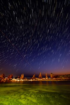 Starry sky, Hashigui-iwa, Kushimoto, Wakayama, Japan