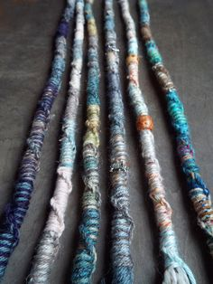 Removable Wool Tie-dye dreads by Purple Finch! 1 Jumbo Twisted Bohemian Charm Hair Wrap Extension