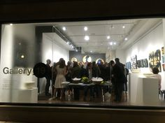 Friday night gallery opening at Gallery 19.