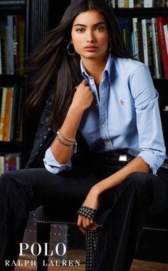 ralph lauren polo Blue Oxford Shirt, Oxford Shirts, Chemise Oxford, Ralph  Lauren Womens 5f08835314df