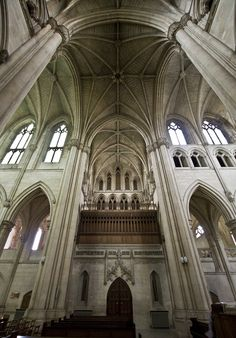 Downside South Transept - Downside Abbey church in Somerset is a minor basilica, and one of the finest Catholic churches in the country. The earliest part is the richly decorated transepts by Archibald Matthias Dunn and Edward Joseph Hansom, dating from 1882.