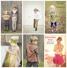 My Collage of outfits made from Blank Slate Patterns!