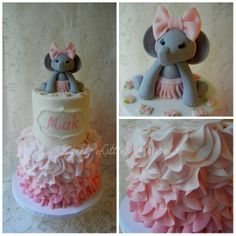 PicMonkey Collage- elephant baby shower cake by Sweet Lil Morsels
