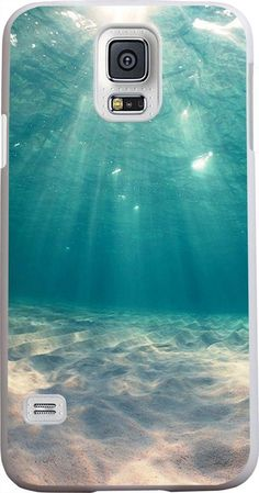 Amazon.com: S5 Case, Case for Samsung Galaxy S5 blue clean ocean water: Cell Phones & Accessories
