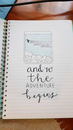 Travel drawing, start of travel journal page for new bullet journal - - Bullet Journal September, Bullet Journal Beginning, Bullet Journal Travel, Travel Journal Pages, Bullet Journal Quotes, Bullet Journal Ideas Pages, Bullet Journal Inspiration, Book Journal, Art Journals